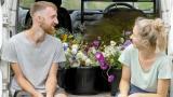 Cô dâu chú rể trồng vườn hoa cho ngày cưới